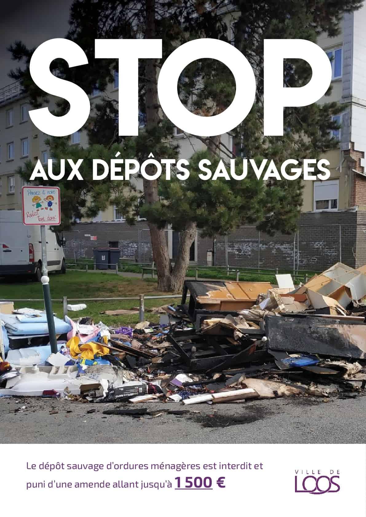 campagne contre le dépot sauvage d'ordures